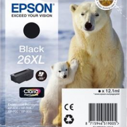 Tusz Epson T2621 XL black Claria | 12,2 ml | XP-600/700/800