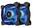 Corsair wentylator AF120 High Airflow Fan 120 mm 3 pin blue LED dual pack
