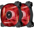 Corsair wentylator AF120 High Airflow Fan 120 mm 3 pin czerwony LED dual pack