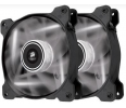 Corsair wentylator AF120 High Airflow Fan 120 mm 3 pin biały LED dual pack