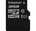 Kingston 32GB microSDHC Canvas Select 80R CL10 UHS-I Single Pack w/o Adapter