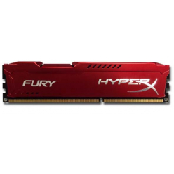Pamięć RAM Pamięć Ram Kingston 4GB 1333MHz DDR3 CL9 DIMM 1,5V HyperX Fury Series, Czerwony