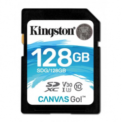 Karta pamięci Kingston 128GB SDXC Canvas Go 90R/45W CL10 U3 V30