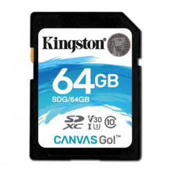 Kingston 64GB SDXC Canvas Go 90R/45W CL10 U3 V30