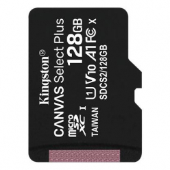 Karta pamięci Kingston 128GB micro SDXC Canvas Select Plus 100R A1 C10  w/o ADP