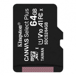 Karta pamięci Kingston 64GB micSDXC Canvas Select Plus 100R A1 C10 Single Pack w/o ADP
