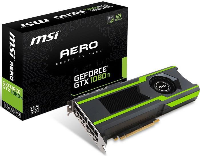 Karta Graficzna Msi Geforce Gtx 108 Gtx 1080 Ti Aero 11g Oc