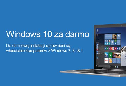 Promocja Windows 10 za darmo